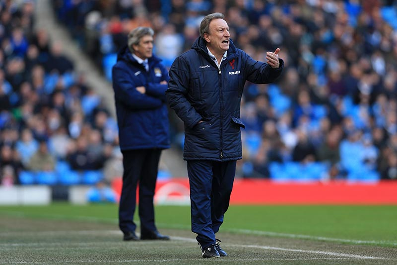20th December 2014 - Barclays Premier League - Manchester City v Crystal Palace - Palace manager Neil Warnock - Photo: Simon Stacpoole / Offside.