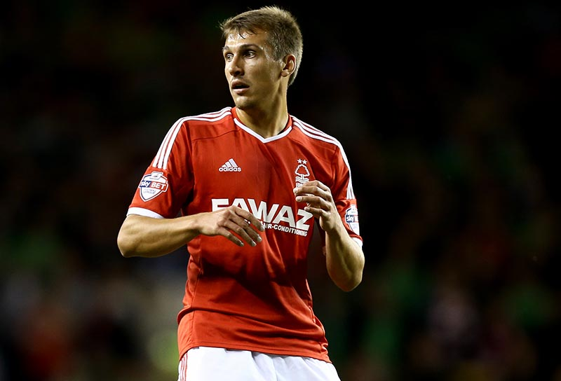 24 September 2014 - Capitol One Cup - Third Round  - Tottenham Hotspur v Nottingham Forest - Robert Tesche of Nottingham Forest - Photo: Marc Atkins / Offside.