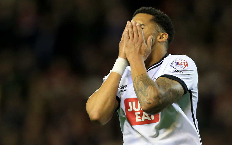 st v Derby County - Cyrus Christie of Derby looks dejected - Photo: Simon Stacpoole / Offside.